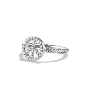 David Yurman Petite Pave Diamond Peace Ring